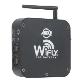 AMERICAN DJ WIFLY EXR BATTERY 20 ORE DISPLAY LED BATTERIA E COPERTURA 2.4 GH DMX/XLR 3/5 POLI 15 CH 760 MT TRASMETTITORE/RICEVITORE