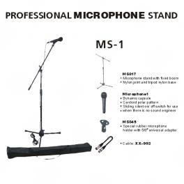 EXTREME MS1 MICROFONO VOCE ON/OFF + ASTA MICROFONICA + BORSA + CLAMP + CAVO CANNON XLR MASCHIO FEMMINA IN BUNDLE