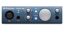 PRESONUS AUDIOBOX IONE INTERFACCIA AUDIO BOX I-ONE 2 IN 2 OUT USB 2.0 INGRESSO MICROFONICO XLR