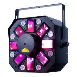 AMERICAN DJ STINGER II 3 IN 1 MOONFLOWER LED UV LASER RED - GREEN