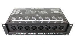 ATOMIC4DJ SPLITTER DMX 8 SPLITTER 8 CANALI DMX 512 CONNETTORI XLR 3 PIN