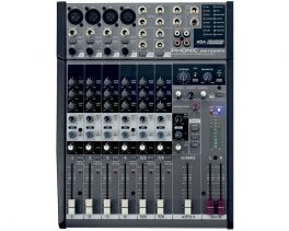 PHONIC AM1204FX MIXER 8 CANALI CON EFFETTI DIGITALI PHANTOM 48 V SLIDER STEREO 60MM