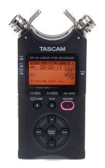 TASCAM DR40 V2 REGISTRATORE DIGITALE PALMARE STEREO DOPPIO MICROFONO + SCHEDA SD 2GB IN OMAGGIO