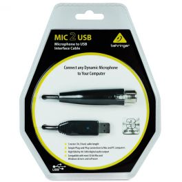 BEHRINGER MIC 2 USB INTERFACCIA AUDIO USB-XLR 5 METRI 44.1/48 KHZ PER MICROFONO MIC2USB PLUG & PLAY PC MAC DAW