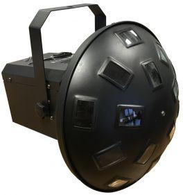 EXTREME MINI MUSHROOM 63 EFFETTO LUCE 6 LED RGB X 3W 2R 2B 2G DMX 9 CANALI SOUND AUTO MASTER SLAVE