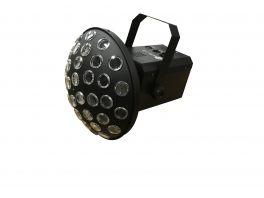 EXTREME MUSHROOM 4 QUAD 3 EFFETTO LUCE LED 4 LEDS X 3W RGBW CONTROLLO DMX 8 CANALI