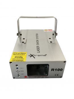 EXTREME R100 EFFETTO LUCE LASER COLORE SINGOLO ROSSO 100 mW 650nm SOUND ACTIVE MICROFONO INTEGRATO