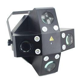 EXTREME X-TRIFEX SPIDER BUNDLE EFFETTO 3 IN 1 + CASE / 8 LED 1W BIANCO STROBO + 20X3W SPIDERAY FLOWER 4 RGBWA X 3W + LASER RG ROSSO/VERDE 100/50MW