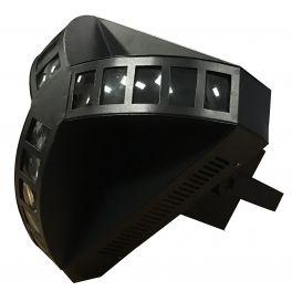 EXTREME Y-FLOWER 4QUAD3 EFFETTO LUCE LED DERBY 4X3W RGBW BEAM 36 FINESTRE TRIANGOLO DMX 8 CANALI
