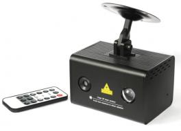 EXTREME WATER WAVE DOPPIO EFFETTO LUCE LED RGB 3x3w INDOOR + LASER RG STELLE GALASSIE + TELECOMANDO REMOTO