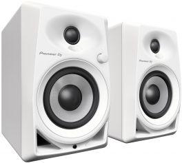 "PIONEER DM 40 WHITE COPPIA MONITOR ATTIVI BASS REFLEX PER DJ E STUDIO 2 VIE 4"" - 0,75"" 21 WATT BIANCHE"