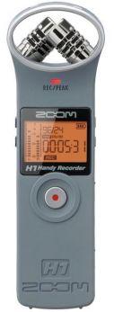 ZOOM H1-MB 2.0 MK2 MATTE GREY REGISTRATORE DIGITALE PALMARE PORTATILE MP3/USB + SD 2GB + BATTERIA + STEINBERG WAVELAB LE