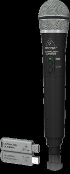 BEHRINGER ULM300-USB ULTRALINK RADIOMICROFONO GELATO PALMARE A MANO 2.4 GHZ + PRATICO RICEVITORE USB X MIXER XENYX Q/QX/CASSE WIRELESS READY