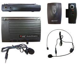 EXTREME WM100-HL RADIOMICROFONO VHF AD ARCHETTO E LAVALIER + TRASMETTITORE BODYPACK + RICEVITORE