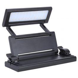 F-ZONE FL-9032 LAMPADA RIPIEGABILE A LED DA LEGGIO 24 LED A BETTERIA RICARICABILE USB E ALIMENTATORE COLORE NERO
