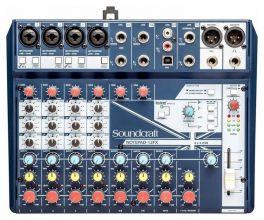 SOUNDCRAFT NOTEPAD-12FX MIXER 12 CANALI USB EFFETTI LEXICON PHANTOM POWER +48V 4 MIC INPUT