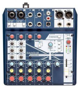 SOUNDCRAFT NOTEPAD-8FX MIXER 8 CANALI USB EFFETTI LEXICON PHANTOM POWER +48V 2 MIC INPUT