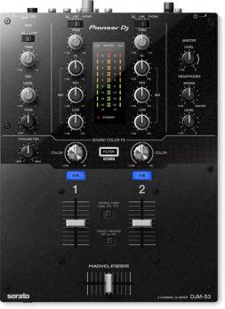 PIONEER DJMS3 MIXER DJ 2 CANALI + CANALE MICROFONO PER SERATO DJ