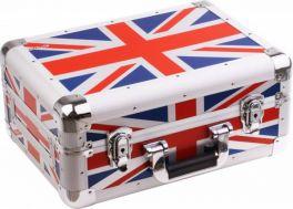 ZOMO CDJ-10 UK FLAG CASE UNIVERSALE MIXER 10″ XT BLACK +PROFILI IN ALLUMINIO +ANGOLI COPERTI +MANIGLIA DI TRASPORTO BANDIERA INGLESE