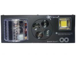 EXTREME BOOM BOX 41 EFFETTO LUCE 4 IN 1 LASER STROBO MULTI BEAM DERBY GOBO MAGIC BALL DMX AUTO SOUND