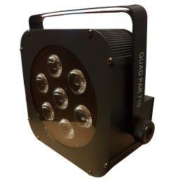 EXTREME QUAD PAR 710 LED 70 WATT 7 X 10W RGBW 4 IN 1 + CONTROLLO DMX  - AUTO