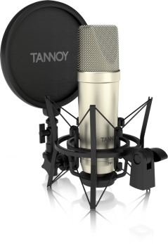 TANNOY TM1 MICROFONO A CONDENSATORE A DIAFRAMMA LARGO CON ANTIPOP E SUPPORTO ELASTICO