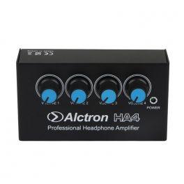ALCTRON HA4 PREAMPLIFICATORE CUFFIE 4 CANALI AMPLIFICATORE CUFFIA 4 INGRESSI + ALIMENTATORE