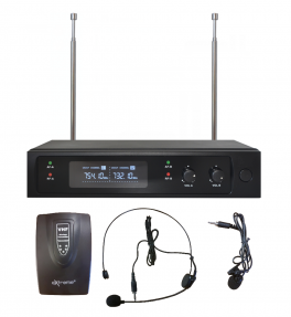 EXTREME WM1000D-HL RADIOMICROFONO VHF AD ARCHETTO E LAVALIER + TRASMETTITORE BODYPACK + RICEVITORE TRUE DIVERSITY CON DISPLAY LCD