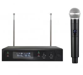 EXTREME WM1000D-V RADIOMICROFONO VHF PALMARE CAPSULA DINAMICA TRASMETTITORE + RICEVITORE TRUE DIVERSITY CON DISPLAY LCD