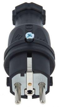 PCE-324015 SPINA SCHUKO 16A 3P (1P+N+T) 250V IP44 3 POLI MASCHIO NERA SAFETY PLUG EU/B/F