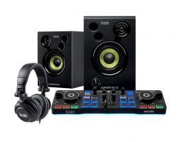 HERCULES DJ STARTER KIT BUNDLE PER DJ CON CONTROLLER MONITOR E CUFFIE EX-DEMO