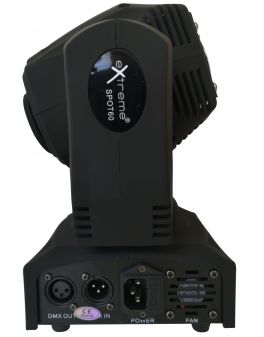 EXTREME SPOT 60 MINI TESTA MOBILE SPOT A LED 60 WATT 7 COLORI 7 GOBO DMX - AUTO - SOUND ACTIVE - MASTER SLAVE