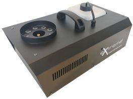 EXTREME FOGGY GEYSER 15-93 MACCHINA DEL FUMO 1500 WATT 9 LED RGB 3 WATT GETTO VERTICALE TIPO CO2 CONTROLLO REMOTO E DMX GITTATA 5 METRI