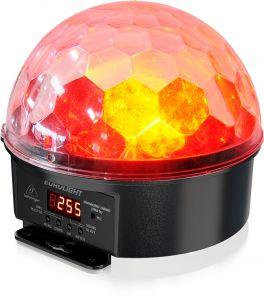 BEHRINGER DIAMOND DOME DD610 EFFETTO LUCE LED CRYSTAL MAGIC BALL MEZZA SFERA RGBWAUV 6IN1 12W