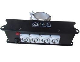 ATOMIC4DJ PD15 DISTRIBUTORE POWERBOX 1 INGRESSO POWERCON 240V + 5 USCITE POWERCON 240V CHASSIS IN METALLO