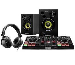HERCULES DJ LEARNING KIT KIT PER DJ CON CONTROLLER DIGITALE, CUFFIA, MONITOR E SOFTWARE SERATO DJ JUICED