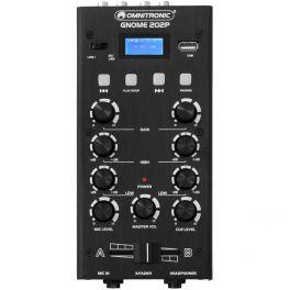 OMNITRONIC GNOME 202P BLACK MINI MIXER DJ 2 CANALI STEREO CON LETTORE MP3 USB