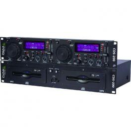 IBIZA SOUND CDS-200 LETTORE CD DOPPIO COMPATIBILE CON MP3 E CD-R