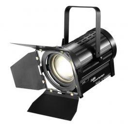 ATOMIC4DJ 61054 SCALA 100 FARO TEATRALE FRESNEL SPOTLIGHT 100 WATT LED WW 3200K - 5000K + BARNDORS