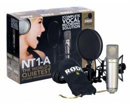 RODE NT1A COMPLETE VOCAL BUNDLE MICROFONO A CONDENSATORE + SUPPORTO + CAVO XLR + FILTRO ANTIPOP