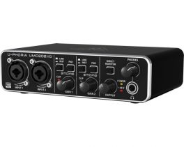 BEHRINGER UMC202HD INTERFACCIA AUDIO 2X2 SCHEDA USB 24 BIT 192 KHZ PREAMPLIFICATORI MICROFONICI MIDAS PHANTOM POWER +48V