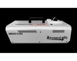 ATOMIC4DJ S1500 MACCHINA DEL FUMO WIRELESS DA 1500 WATT 81023 + RADIOCOMANDO + COMANDO A FILO