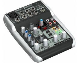 BEHRINGER XENYX Q502-USB MIXER COMPRESSORE USB PHANTOM POWER +15V