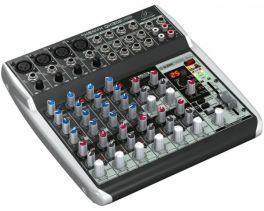 BEHRINGER QX1202USB MIXER 12 INGRESSI 4 COMPRESSORI EFFETTI KLARK TEKNIK PHANTOM POWER +48V INTERFACCIA AUDIO USB