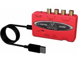 BEHRINGER UCA222 U-CONTROL INTERFACCIA AUDIO USB ROSSA 48KHZ + USCITA OTTICA S/PDIF + SOFTWARE