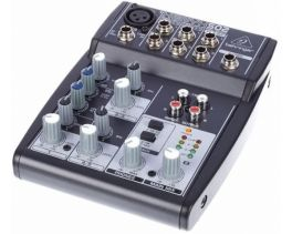 BEHRINGER XENYX-502 PRO MIXER PASSIVO 5 CANALI INGRESSO MICROFONO CON PHANTOM POWER +48V EQUALIZZATORE 2 BANDE