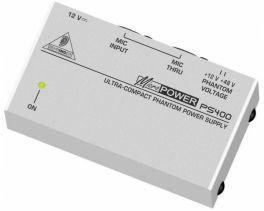 BEHRINGER PS400 MICRO-POWER ALIMENTATORE PHANTOM +12V +48V MICROFONI A CONDENSATORE