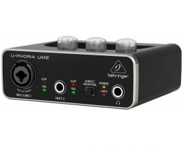 BEHRINGER UM2 U-PHORIA INTERFACCIA 2X2 USB SCHEDA AUDIO 2 IN 2 OUT PREAMPLIFICATORE MICROFONICO SOFTWARE PC MAC