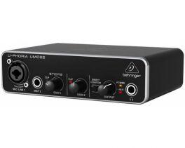 BEHRINGER UMC22 INTERFACCIA AUDIO 2X2 SCHEDA USB 2 IN 2 OUT 24 BIT 48 KHZ PC E MAC PREAMPLIFICATORE MICROFONICO MIDAS