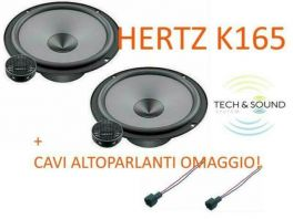 Hertz K165  KIT 2 VIE ALTOPARLANTI Woofer 16,5 cm + tweeter + coppia cavi omaggio (COPPIA)